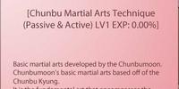 Chunbu Martial Arts Technique