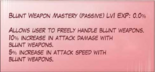 Blunt Weapon Mastery