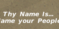 Naming Your People