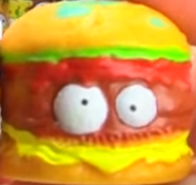 Horrid Hamburger Orange Figure