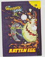 Rotten egg sticker card