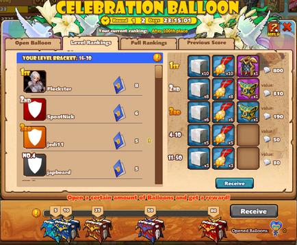 Celebration Balloon 2 lvl 20