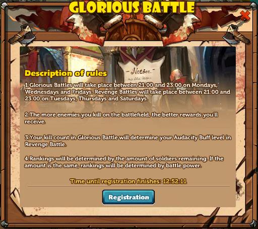 Glory and Revenge Rules