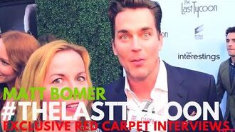 Matt Bomer interviewed at Sony Pictures Social Soiree for The Last Tycoon AmazonPilots