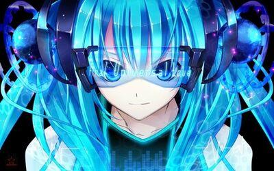 Vocaloid hatsune miku blue eyes twintails cyan hair 1440x900 wallpaper www.animemay.com 42