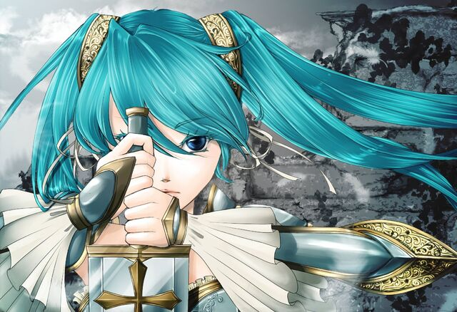 File:Cartoons Girl with blue hair and a sword 048964 .jpg