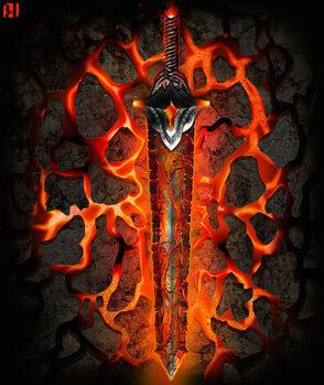 Dragon sword, fire