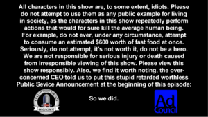 Opening disclaimer