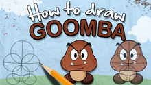How to draw a goomba the lonely goomba by thelonelygoomba-d6ayjq3