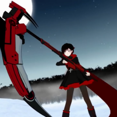 Ruby Rose with Crescent Rose.