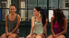 Gabi and two j-troupe members season 3 episode 11