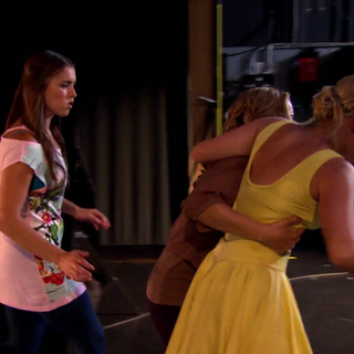 Phoebe follows Emily, wondering if she is okay.