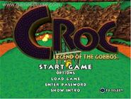 Croc title screen