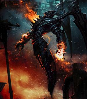 Black mech dragon