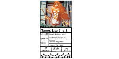 Lisa Snart aka Golden Glider RGM card