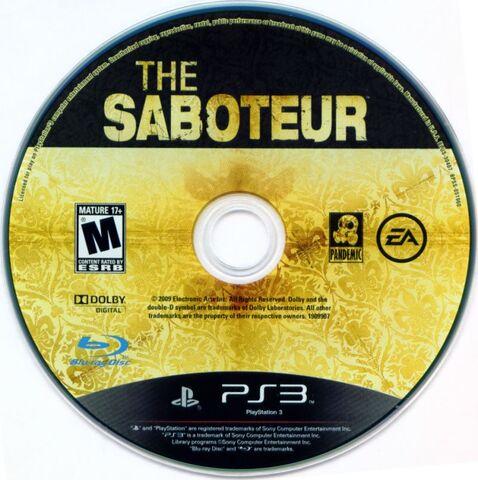 File:The Saboteur Playstation 3 Bluray.jpg