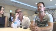 Janet Montgomery, Shane West, Ashley Madekwe and EP Brannon Braga, Salem (Comic-Con 2014 Press Room)