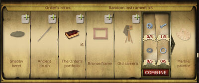 Collection 188 Orders relics cropped