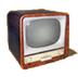 C456 Haunted House i02 Old TV set