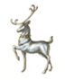 C468 Christmas sleigh i03 Prancer figurine