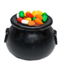C168 Halloween decorations i06 Kettle with candy
