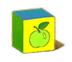 C570 Toy blocks i01 Apple block