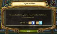 Bonfire Update Quests complete notification