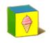 C570 Toy blocks i03 Ice cream block