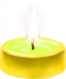 C100 Little candles i01 Yellow candle