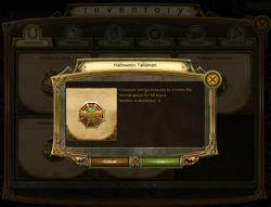 Halloween Talisman 2015 in Inventory