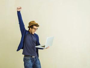 File:Man with laptop.jpg