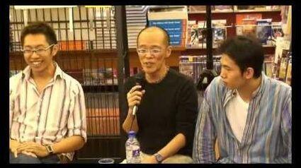SQ21 book launch at Kinokuniya - Leow Yangfa & Dominic Chua