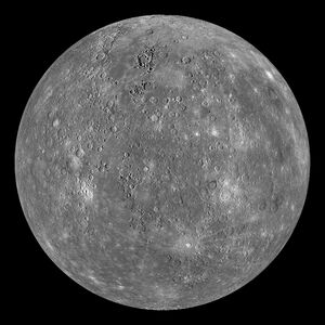 Mercury Globe-MESSENGER mosaic centered at 0degN-0degE