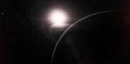 Saturn ring shinethrough