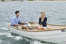 Jon & Emily on the boat