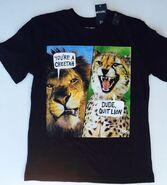 Brothers Cheetah and lion joke t shirt