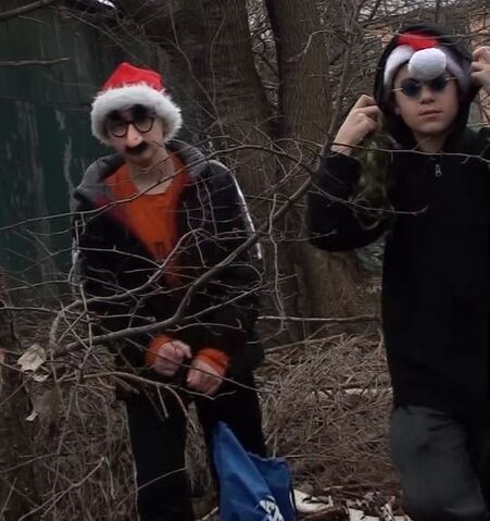 File:Ned and Den on set filming Ned Saves Christmas.jpg