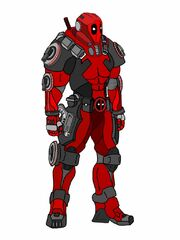 Initial Deadpool suit concept art
