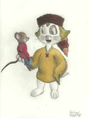 Fievel s new friend by ZevironMoniroth