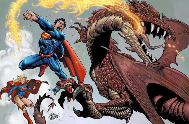 File:Superman vs dragon by scariello-d5bnyk2.jpg