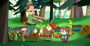 S2e10b forest ranger's conversation with grumpy...and what's wrong with sneezy