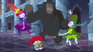 S2e07a hildy and grim 'dancing' with gorilla