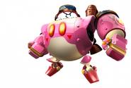 White Kirby Planet Robobot
