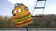 Bus Hamburger Cop