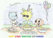 Happy b day jonathan and damien 2 by dasimstoon2012-d68tc8v