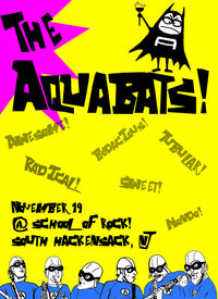 Aquabats poster yellow