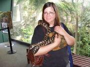 Diane snuggling snake