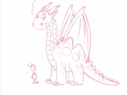 The Backyardigans Dragon and Uniqua Draft Sketch