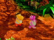 The Backyardigans Quest for the Flying Rock 9 Uniqua Tasha