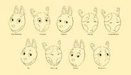 The Backyardigans Uniqua and Austin 2D Facial Expressions